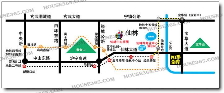 四季金辉交通区位图