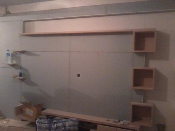 木工装修电视墙图片
