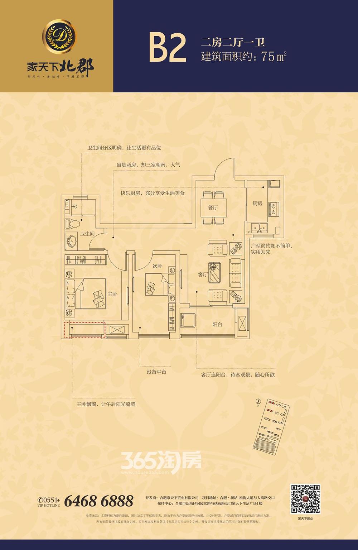 家天下北郡B2户型图