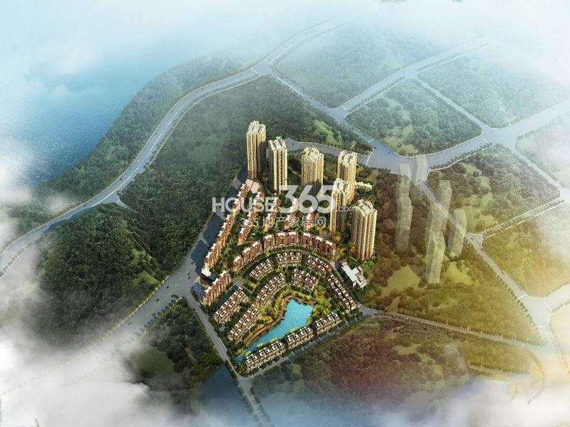 珠江城项目整体鸟瞰效果图
