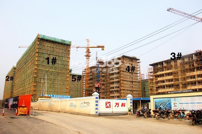 万科西庐项目1—5号楼施工进程图(2015.1)