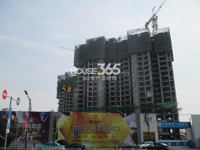 理想银泰城项目3、5号楼施工进程图(2015.3)