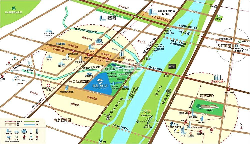 保利西江月交通图