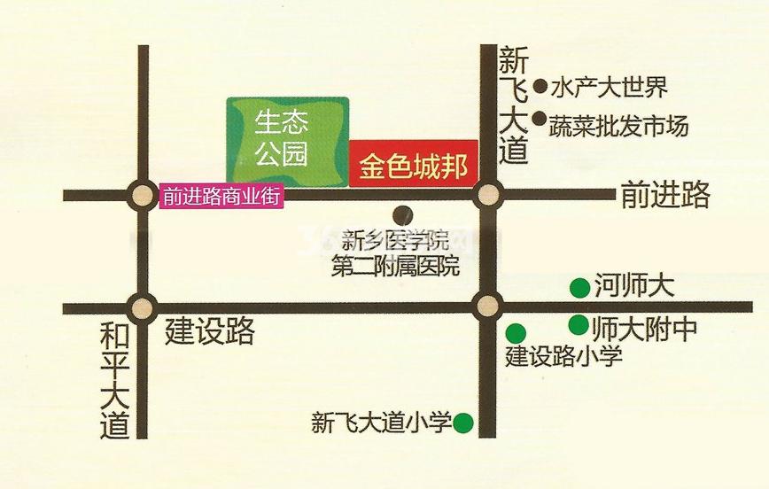 豫飞金色城邦交通图