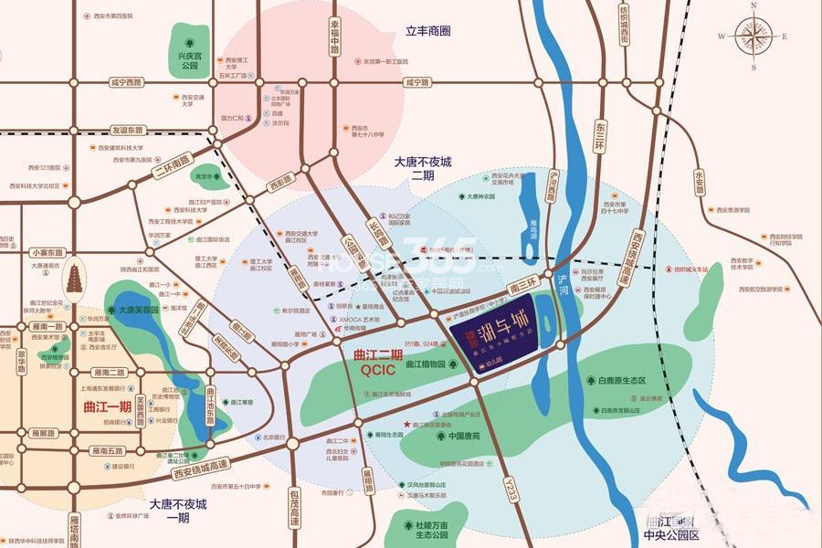 恒大御龙湾交通图