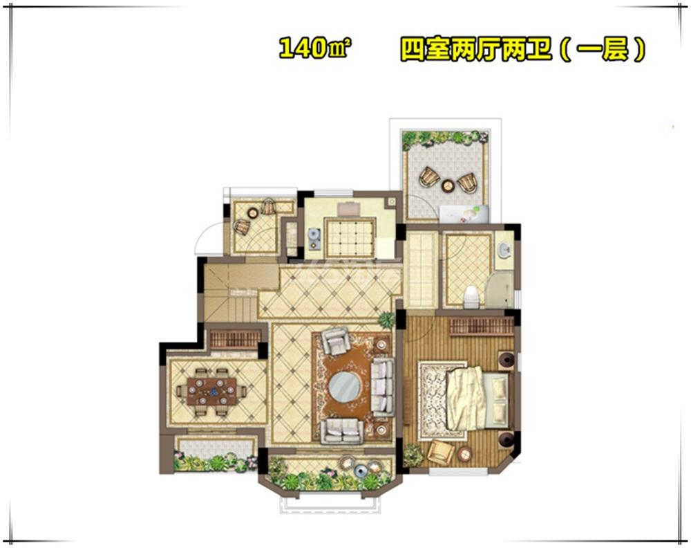 金浦御龙湾E6户型图