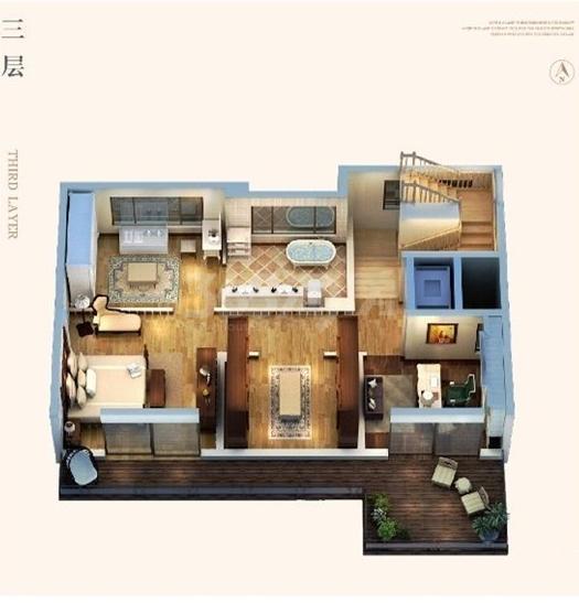 255平别墅三层