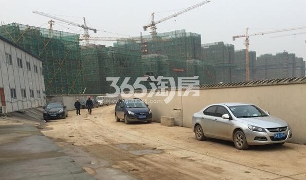 银亿东城12街区整体楼栋实景图(2.14)