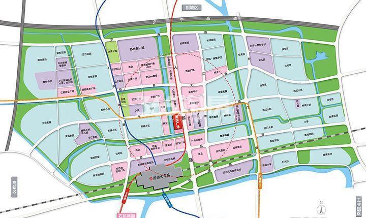 苏州潮流广场交通图