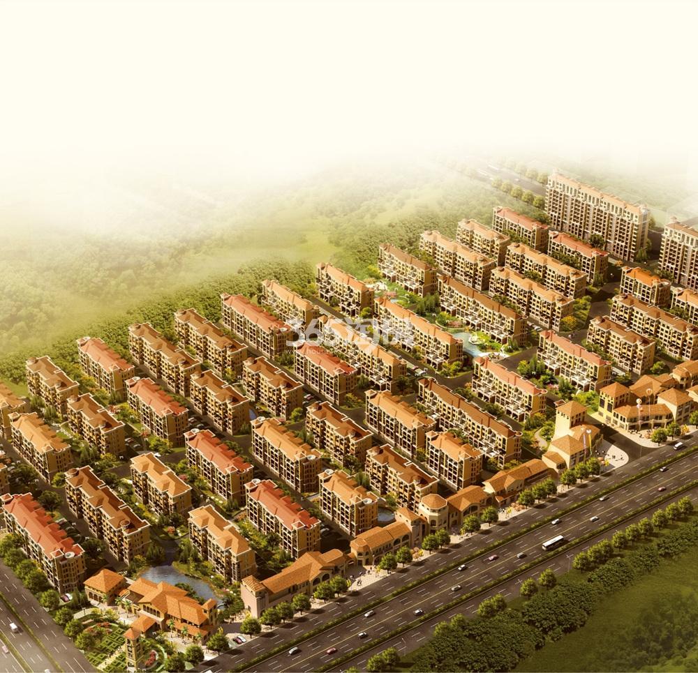 台湾小镇鸟瞰图