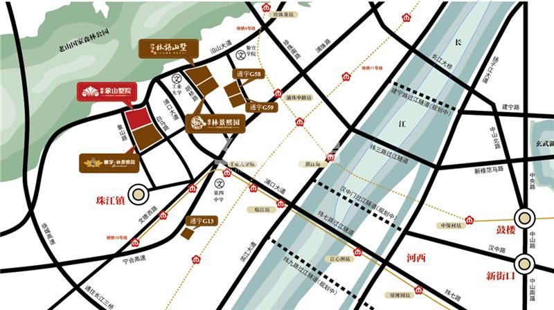 林景象山墅院交通图