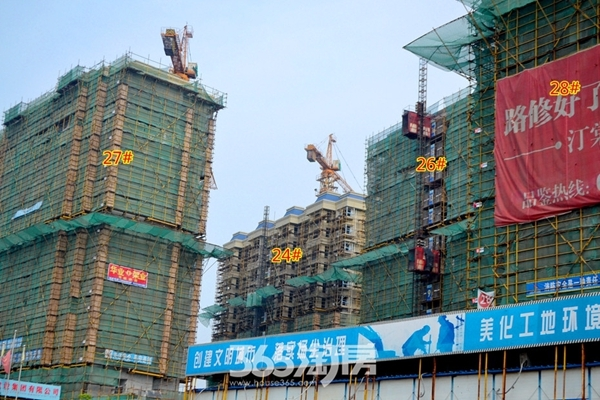 东方蓝海高层工程进度(2016年9月摄)