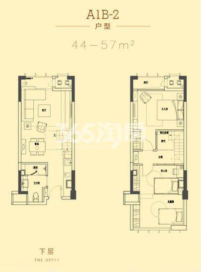 深港亚太中心44-57平A1B-2户型