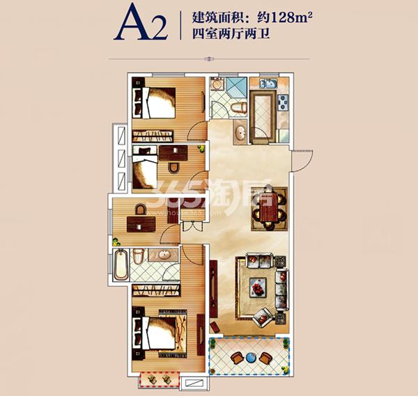 伟星玲珑湾藏岛A2户型图