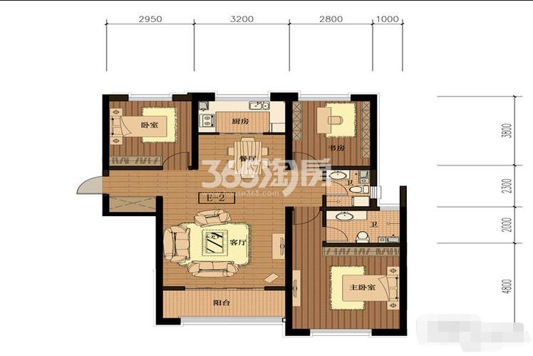 E-2三室两厅两卫139平
