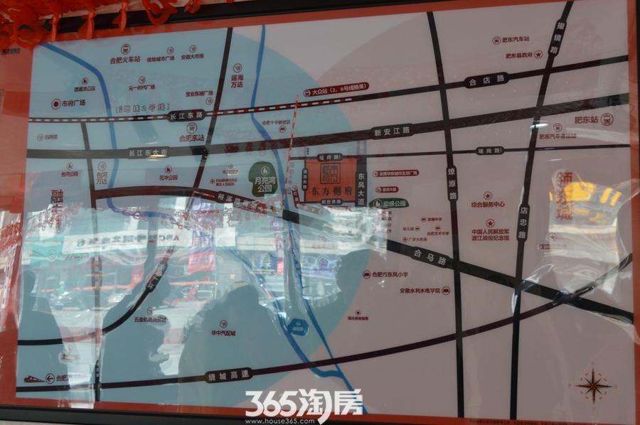 东方樾府售楼部区位图(2017.03)