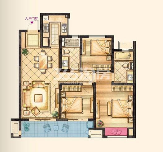 红豆香江豪庭户型图