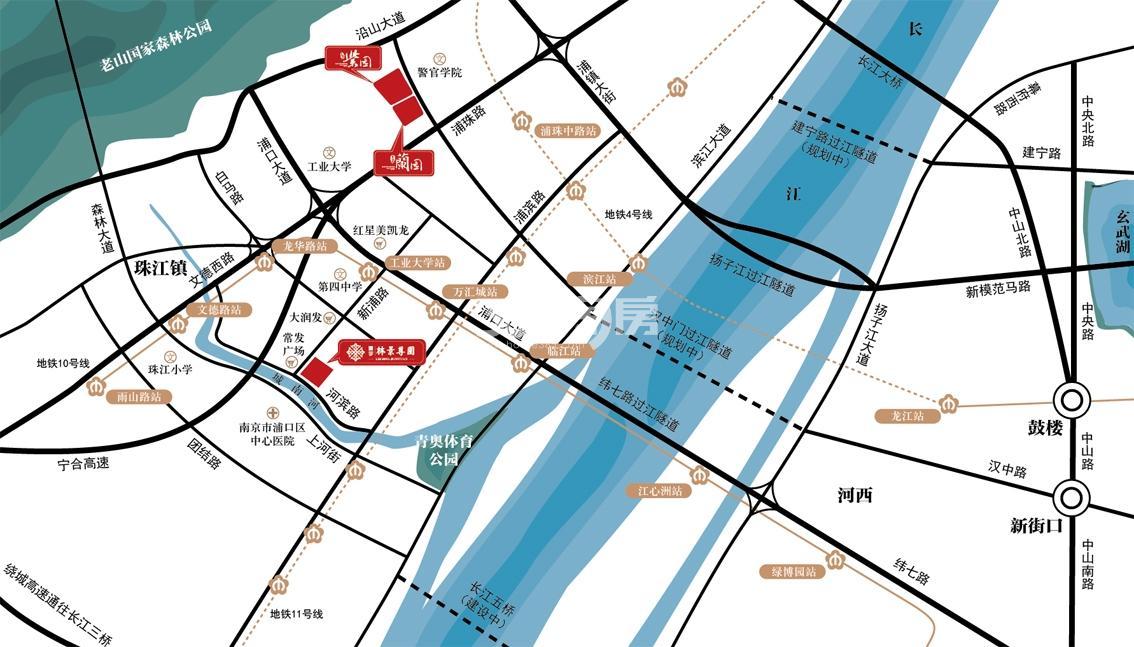 通宇林景蘭园交通图