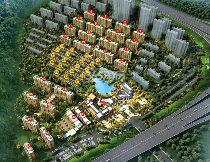 银亿东城9街区平面效果图