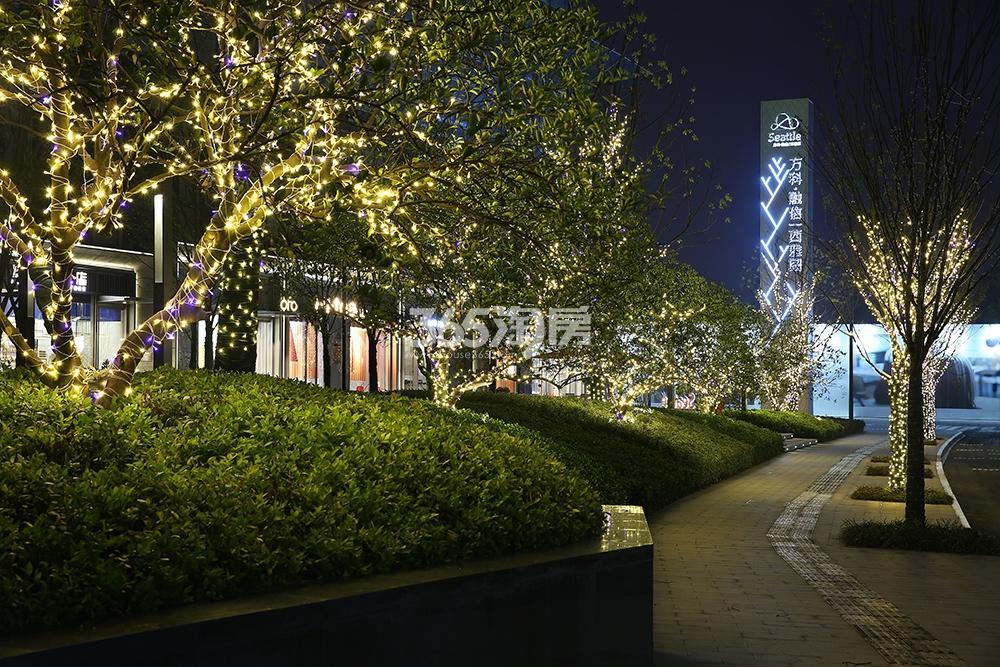 万科融信西雅图示范区夜景图