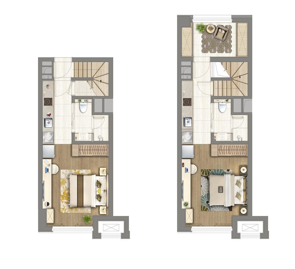 保利堂悦·翡翠公馆45㎡公寓户型图
