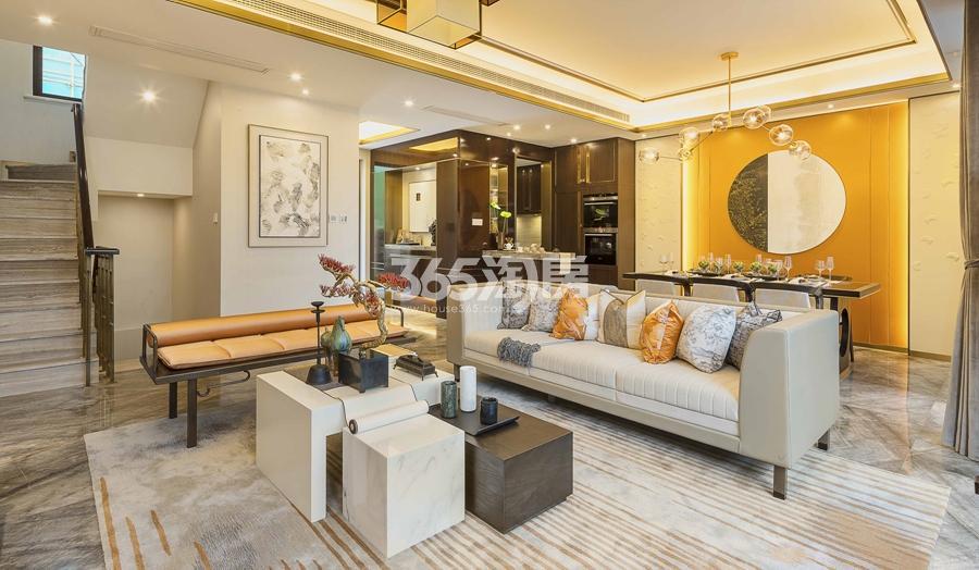新城香悦公馆P1户型图150方样板房——客厅