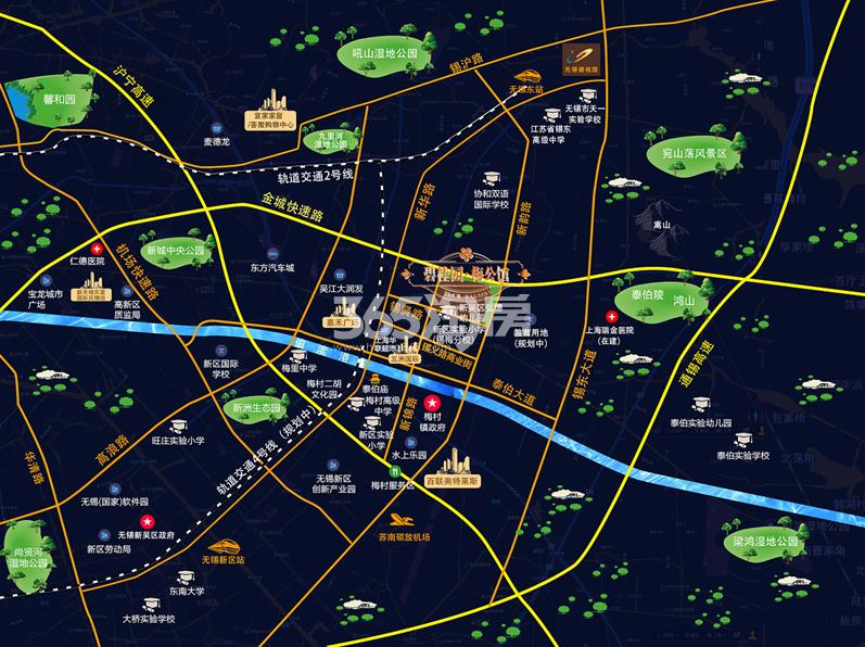 碧桂园梅公馆交通图