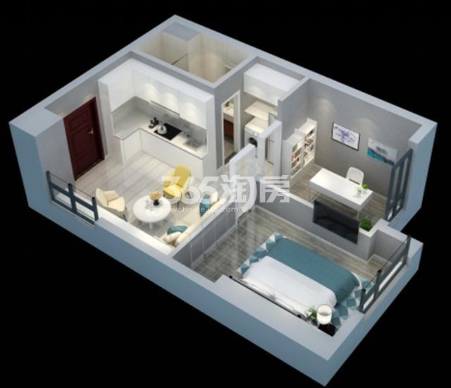 中电颐和府邸B户型:约60平米(两室一厅)
