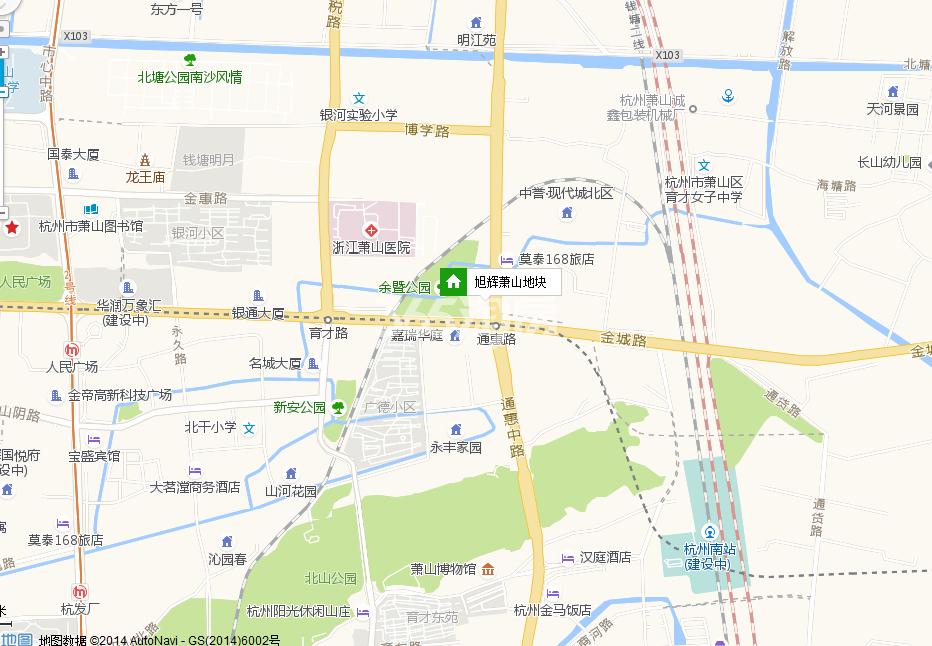 旭辉东原国滨府交通图