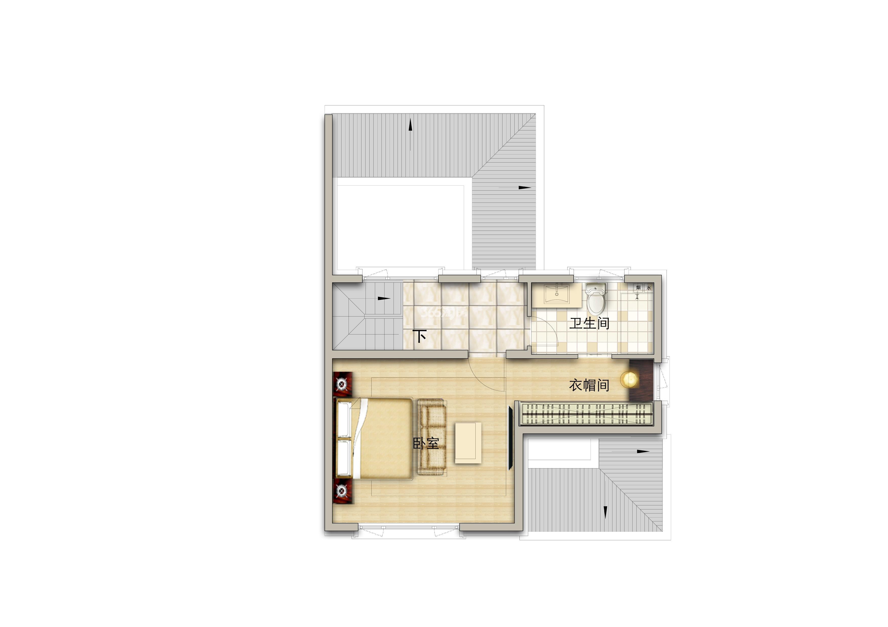 别墅190平米三层