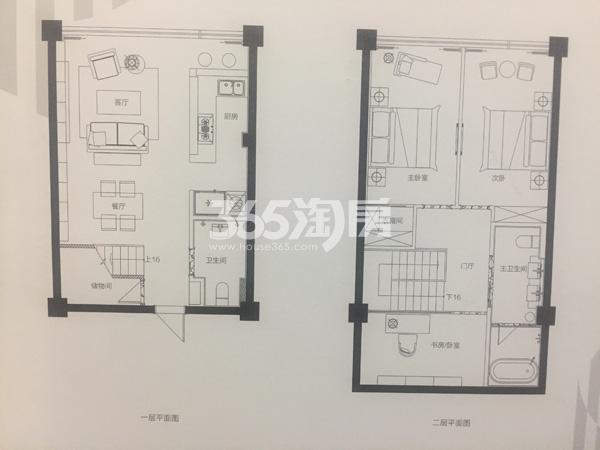 理想商业中心70㎡三室两厅两卫户型图