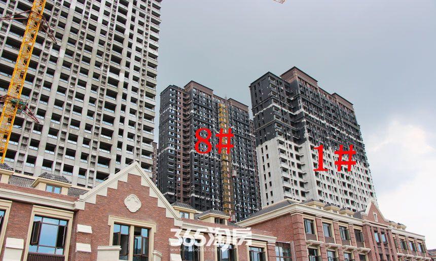 华邦观筑里1、8#楼工程进度(2017.8)