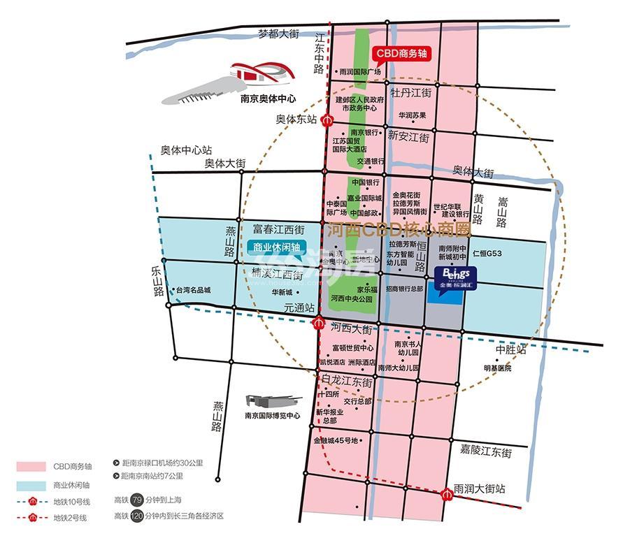 南京金奥缤润汇交通图