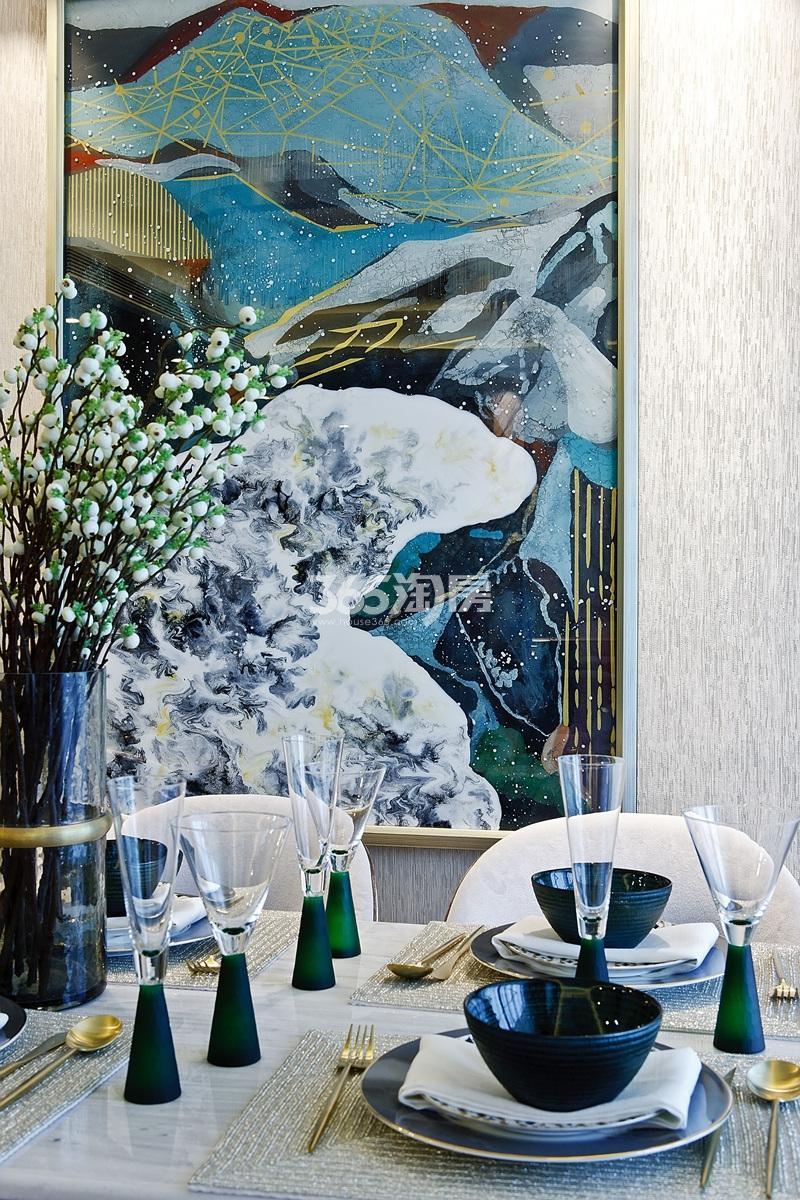 招商远洋春秋华庭126方(D户型)样板房---餐厅摆设