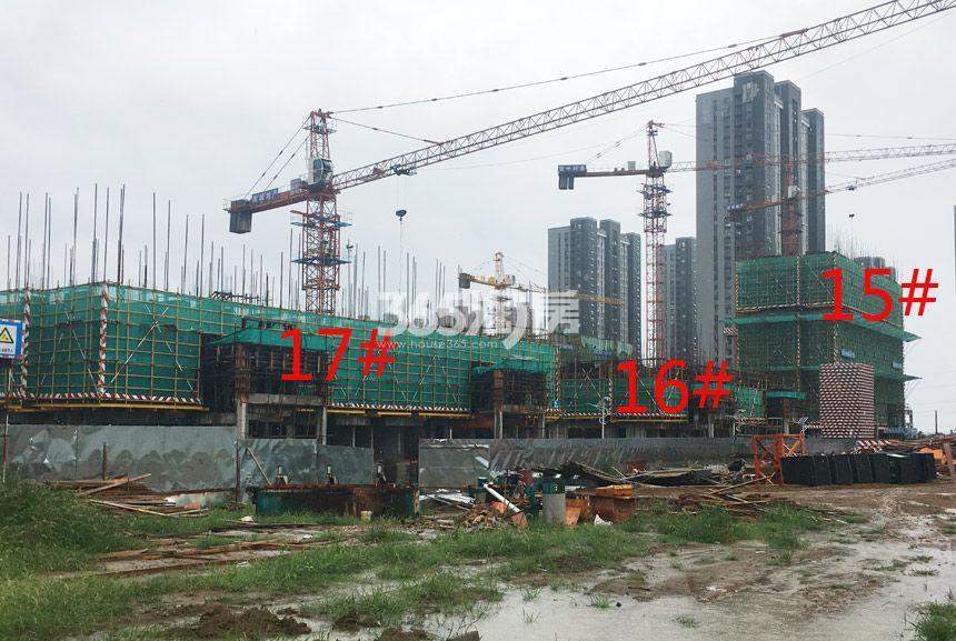 新城北宸紫郡15#、16#、17#工程进度实景图(9.4)