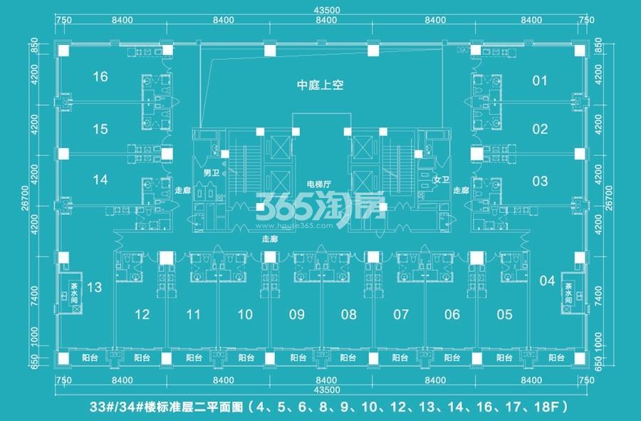 中央城学府金座户型分布平面图