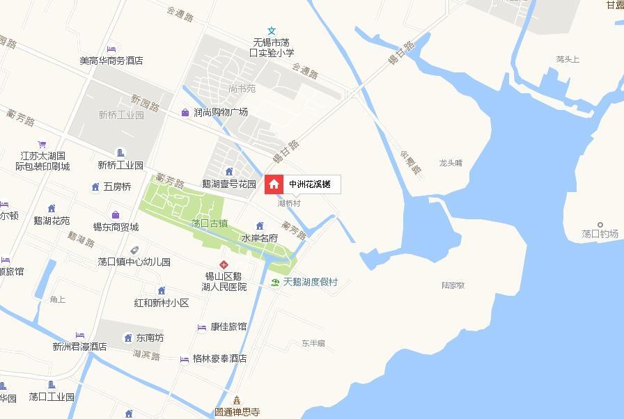 中洲花溪樾交通图