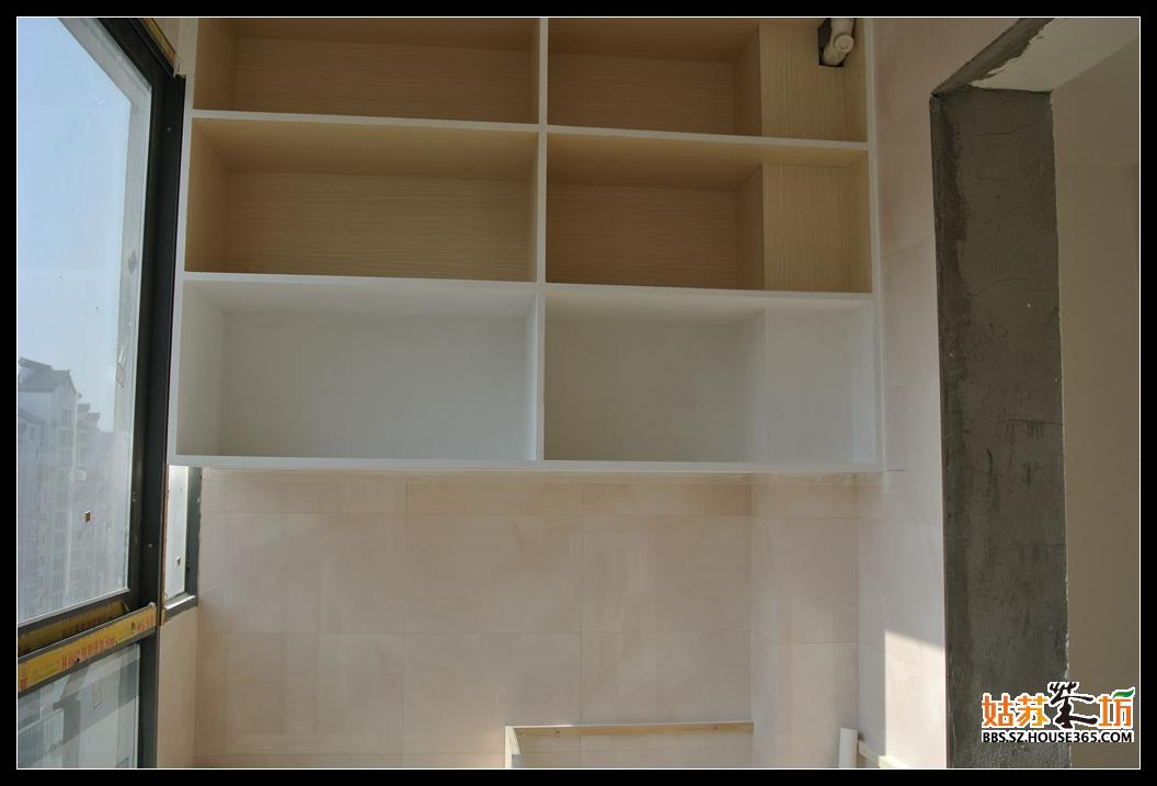 木工阳台柜子效果图