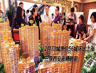 2月70城房价56城环比上涨 三亚西安涨幅居前